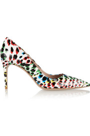 Miu Miu Leopard-print patent-leather pumps