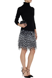 Matthew Williamson Embellished stretch-twill mini skirt