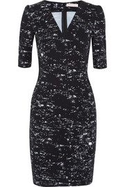 Matthew Williamson Starlight printed stretch-cotton twill dress