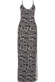 Matthew Williamson Star-print silk gown