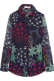 Matthew Williamson Printed silk-chiffon shirt
