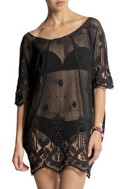 Miguelina Jessica crocheted cotton kaftan