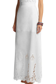 Miguelina Celine crocheted cotton maxi skirt