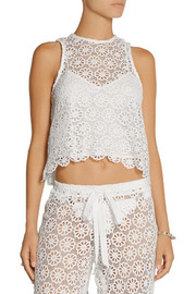Miguelina Micha crocheted cotton top