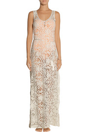 Miguelina Victoria crocheted cotton-lace maxi dress