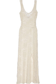 Victoria crocheted cotton-lace maxi dress