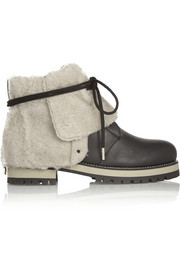 Dalton shearling-lined leather boots