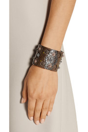 Bottega Veneta Oxidized and rose gold-plated sterling silver cuff