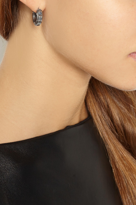 Bottega Veneta Oxidized sterling silver earrings