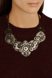 Bottega Veneta Oxidized and rose gold-plated sterling silver necklace