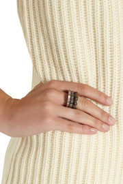 Bottega Veneta Set of three oxidized and rose gold-tone sterling silver rings
