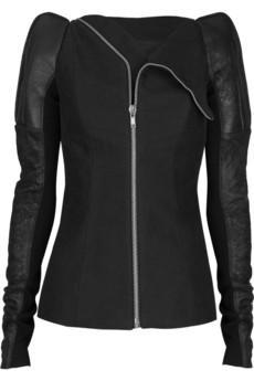 Rick Owens Peak-shouldered flannel jacket