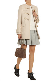 Miu Miu Leather-trimmed wool duffle coat