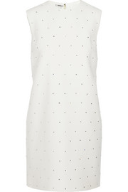 Miu Miu Crystal-embellished cady mini dress