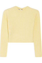 Miu Miu Cropped ribbed cashmere sweater