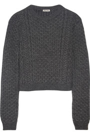 Miu Miu Cropped cable-knit sweater