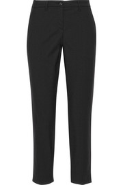 Cropped stretch-wool gabardine pants