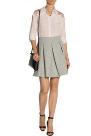 Miu Miu Pleated wool mini skirt