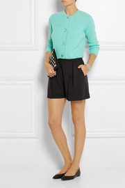 Miu Miu Pleated stretch-wool crepe shorts
