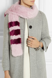 Shrimps Ivana striped faux fur scarf
