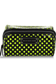 Marc by Marc Jacobs Polka-dot PVC and mesh cosmetics case
