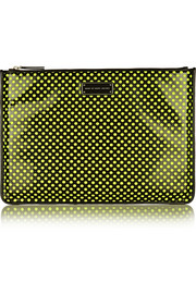 Polka-dot mesh and PVC laptop case