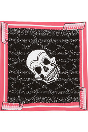 Marc by Marc Jacobs Skull-print cotton scarf