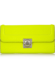 Marc by Marc Jacobs Neon textured-leather wallet