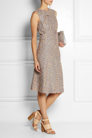 Jil Sander Ruched bouclé dress