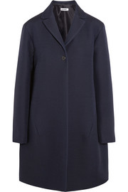 Jil Sander Satin-trimmed wool and silk-blend coat