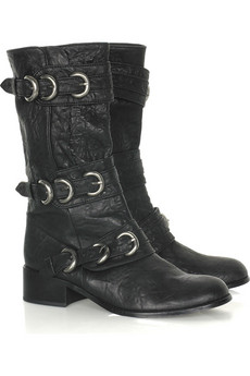 Thomas Wylde Buckled-up leather boots