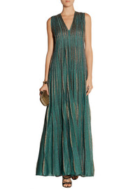 Missoni Striped metallic knitted maxi dress
