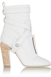 Fendi Textured-leather ankle boots