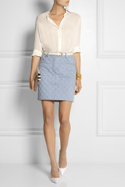 Moschino Quilted denim mini skirt