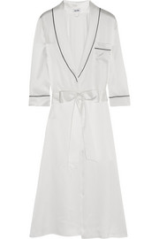 Anoushka Snow White silk-satin robe