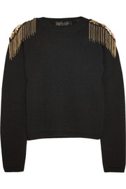 Versace Embellished wool sweater