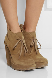 Pedro Garcia Violeta suede wedge ankle boots