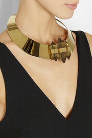 By Malene Birger Erykah gold-plated resin necklace