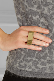 By Malene Birger Klarinet gold-plated ring