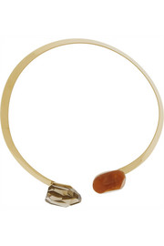 By Malene Birger Klein gold-plated resin necklace
