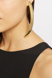 By Malene Birger Gold-plated tube earrings