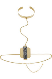 By Malene Birger Leny gold-plated resin body chain