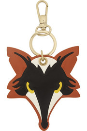 REDValentino Faux glossed-leather fox keychain