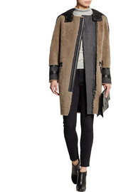 Belstaff Ava leather-paneled shearling coat