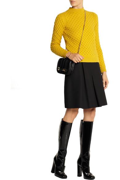 736fc232f Gucci | Horsebit-detailed patent-leather knee boots | NET-A-PORTER.COM