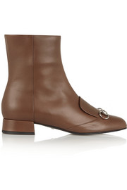 Gucci Horsebit-detailed leather ankle boots