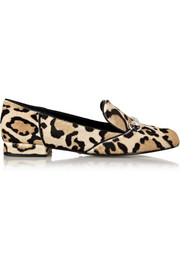 Gucci Leopard-print calf hair loafers