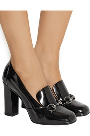 Gucci Horsebit-detailed patent-leather pumps