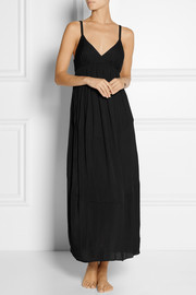 Donna Karan Sleepwear Jersey and voile nightdress