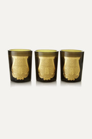 Odeurs Royales set of three scented candles, 3 x 100g